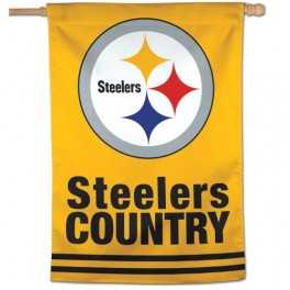 "28"" x 40"" Pittsburgh Steelers Banner- Steeler Country"