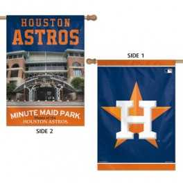 """28"""" x 40"""" Houston Astros Banner- Double Sided"""