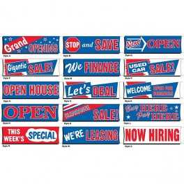 3' x 10' Stock Message Banners