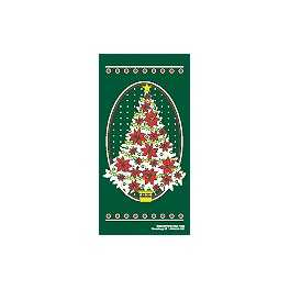 "60"" x 30"" Sunbrella Street Banner - Holly Christmas Tree"