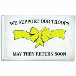Support Our Troops - 3' x 5' Nylon